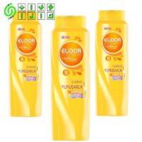 شامپو الیدور EliDOR زرد مخصوص موهای خشک حجم 550 میلی لیتر