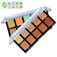 کانتورینگ صورت یکی از تکنیک های مهم در آرایش صورت بوده و برای برجسته تر کردن یا کوچک تر کردن اجزاء صورت انجام داده می شود. این تکنیک آرایشی نیاز به تجربه داشته و در صورتی موفق است که برای انجام آن از لوازم آرایشی مناسبی استفاده شود. این پالت در ۲ کد رنگی موجود است و هر کدام دارای ۱۰ رنگ می باشد که هر رنگ مناسب رنگ پوستتان برای کانتور و کانسیلر مورد استفاده است.