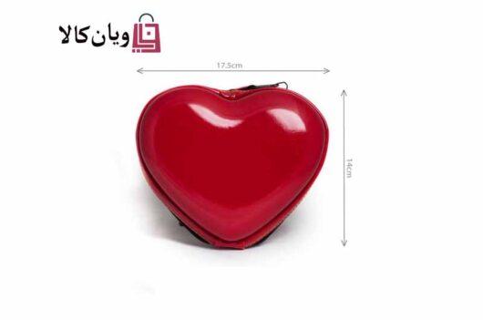 کیف لوازم آرایش مدل قلب سایز متوسط