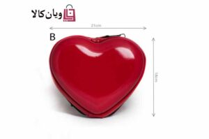 کیف لوازم آرایش مدل قلب سایز بزرگ