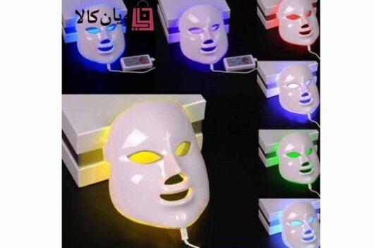 ماسک نقابی صورت LED نور درمانی در 7 رنگ بدون گردن