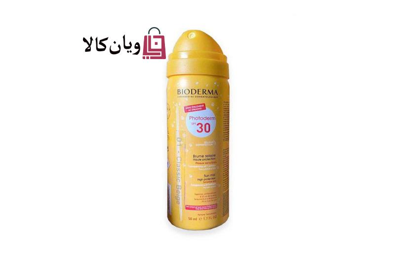 اسپری ضد آفتاب و کرم گریم بایودرما BIODERMA مدل فتودرم با SPF 30